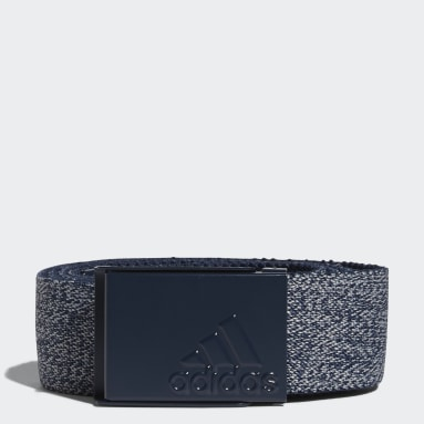 Men Golf Blue Heather Stretch Reversible Belt