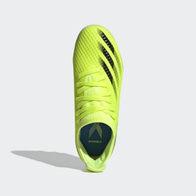 Kids Football Yellow X Ghosted.3 Multi Ground Boots