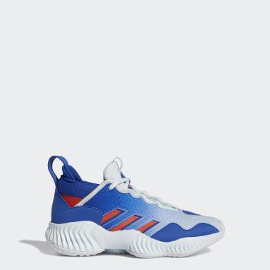 Chaussure Court Vision 3 Bleu Enfants Basketball