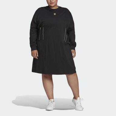 Robe Long Sleeves Noir Femmes Originals