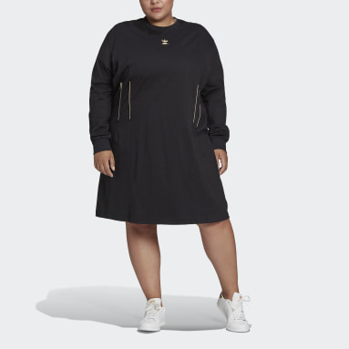 Vestido de manga larga Negro Mujer Originals