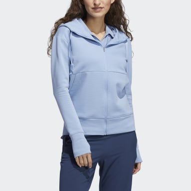 Women's Golf Blue Go-To Primegreen COLD.RDY Full-Zip Hoodie