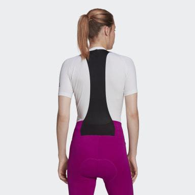 Sous-couche de cyclisme The Short Sleeve Blanc Femmes Cyclisme