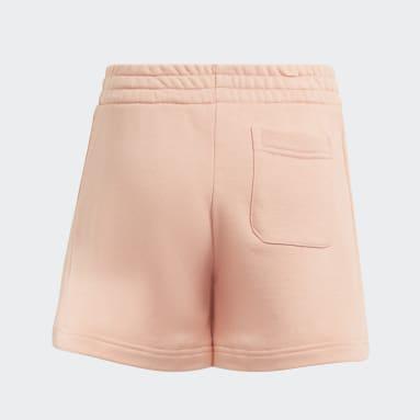 Girls Training Pink Future Icons Badge of Sport Shorts