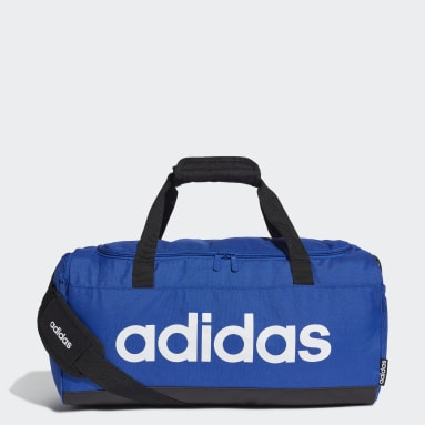Gym & Training Blue Linear Logo Duffel Bag