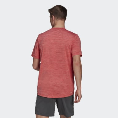 T-shirt AEROREADY Designed To Move Sport Stretch Rouge Hommes Fitness Et Training