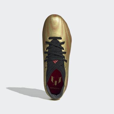 Girls Football Gold Nemeziz Messi.3 Firm Ground Boots