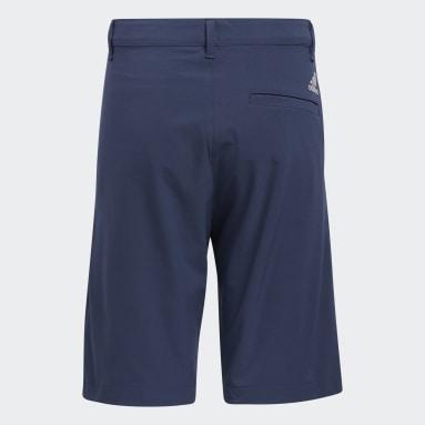 Youth Golf Blue Solid Golf Shorts