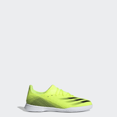 Children Soccer Yellow X Ghosted.3 Indoor Shoes