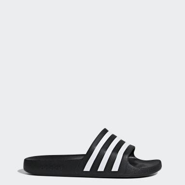 Swim สีดำ รองเท้าแตะ Adilette Aqua