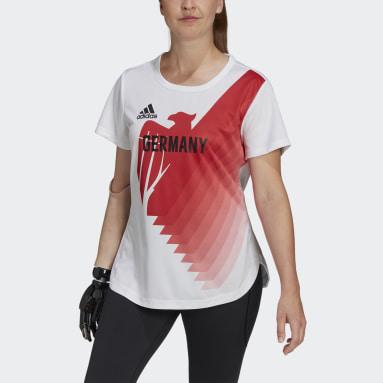 Frauen Fitness & Training Team Deutschland HEAT.RDY T-Shirt Weiß