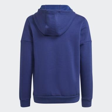 Sweat-shirt à capuche Badge of Sport Fleece Bleu Adolescents 8-16 Years Entraînement