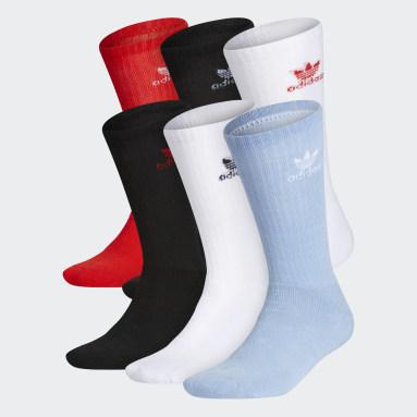 Men's Originals Blue Trefoil Crew Socks 6 Pairs