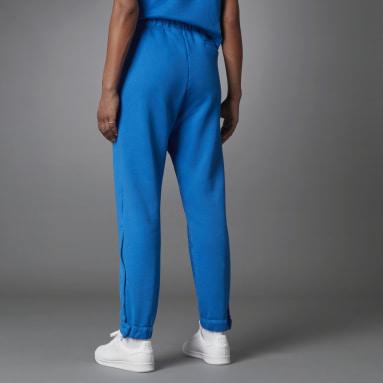 Fashion Essentials Side Slit Track Pants Niebieski