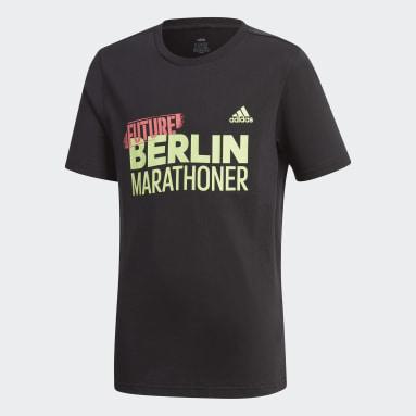 Boys Running Black Berlin Marathon T-Shirt