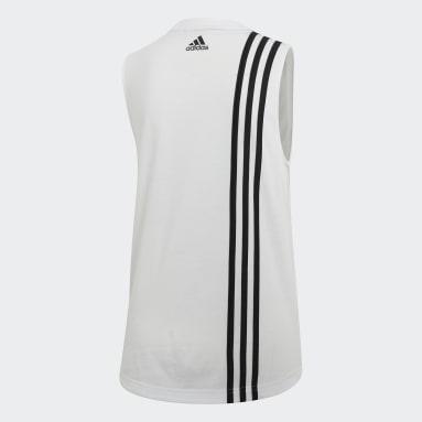 Camiseta de tirantes Must Haves 3 bandas Blanco Mujer Sportswear
