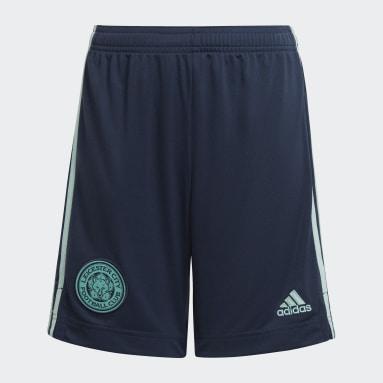 Děti Fotbal modrá Venkovní šortky Leicester City FC 21/22