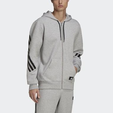 Erkek Sportswear Gri adidas Sportswear Future Icons 3-Stripes Kapüşonlu Üst