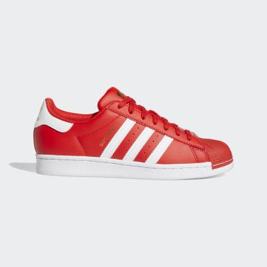Men's Originals Red Superstar Shoes