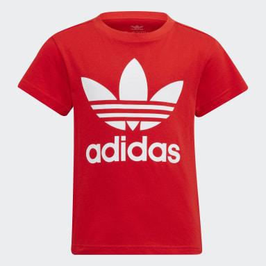 T-shirt Adicolor Trefoil Rouge Enfants Originals