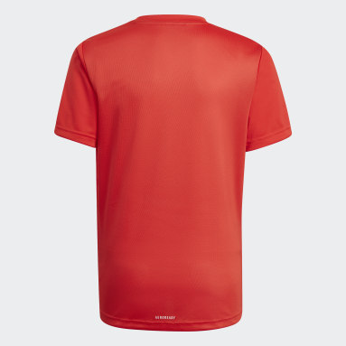 T-shirt adidas Designed To Move Big Logo Rouge Garçons Fitness Et Training