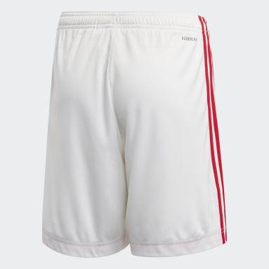 Short Ajax Amsterdam Domicile Blanc Enfants Football
