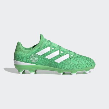 Børn Fodbold Grøn Gamemode Knit Firm Ground støvler