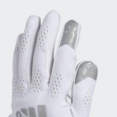 Men's Football White Adizero 11 Turbo Gloves
