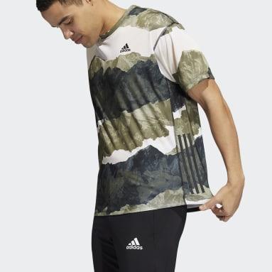 T-shirt Earth Graphic Yoga Vert Hommes Studio