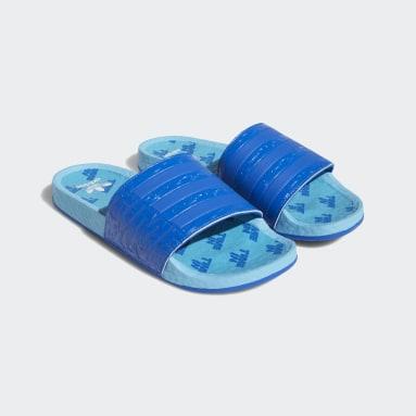 Men's Originals Blue Ninja Time In™ Adilette Boost Slides