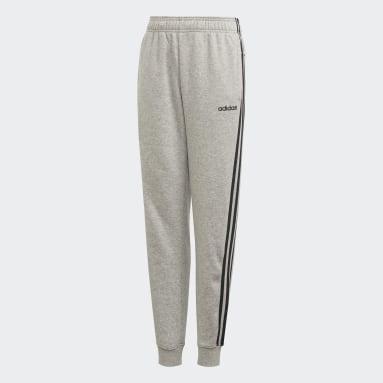 Pants Essentials 3 Franjas Gris Niño Training