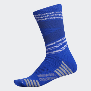 Football Blue Speed Mesh Team Crew Socks