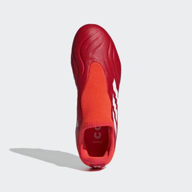 Bota de fútbol Copa Sense.3 Laceless césped natural seco Rojo Niño Fútbol