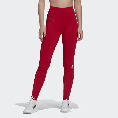 Women's Volleyball Red USA Volleyball Performance Long Tights