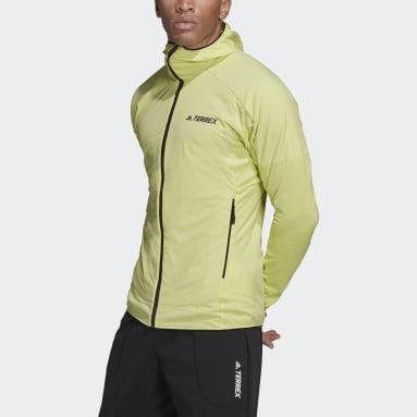 Men TERREX Yellow Terrex Skyclimb Fleece Jacket