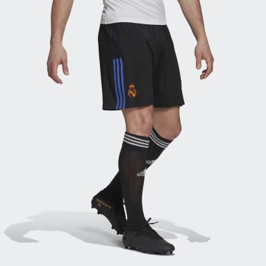 Men Football Black Real Madrid Tiro Training Shorts