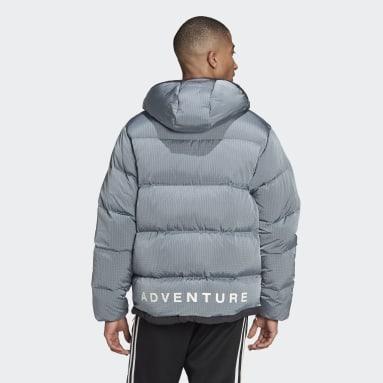 Mænd Originals Blå adidas Adventure Down Puffer dunjakke