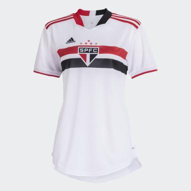 Camisa 1 São Paulo FC 21/22 Branco Mulher Futebol