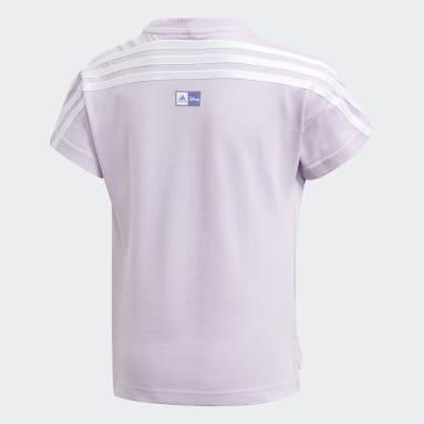 Girls Gym & Training Purple Disney Frozen T-Shirt