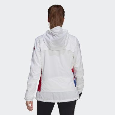 Chaqueta Adizero Marathon Blanco Mujer Gimnasio Y Entrenamiento