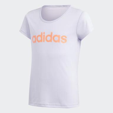 Camiseta Cardio Violeta Niña Gimnasio Y Entrenamiento