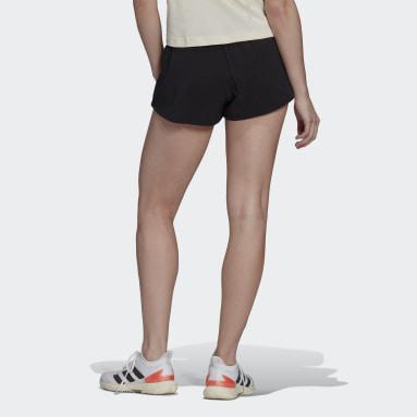 Women Tennis Black Tennis Match Shorts