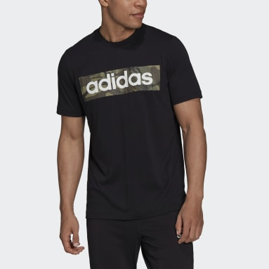 Men's Training Black AEROREADY  Designed to Move Sport Cotton Touch Camo Tee