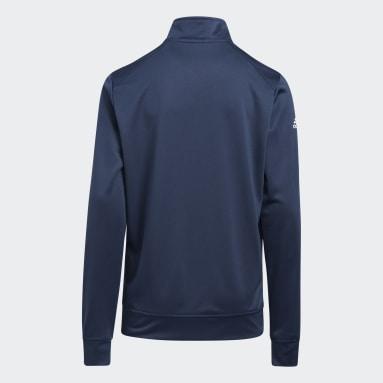 Boys Golf Blue Heather Quarter Zip Sweatshirt