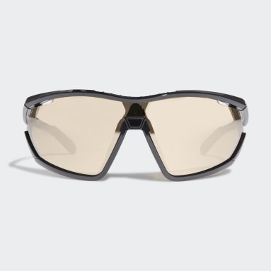 Running Black SP0002 Shiny Black Injected Sport Sunglasses