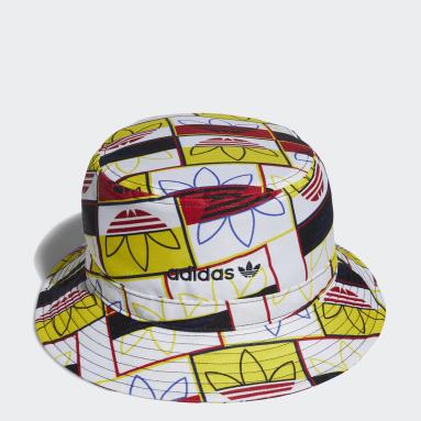Originals Red Allover Print Logo Play Bucket Hat