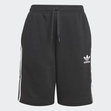 Kids Originals Black Adicolor Shorts