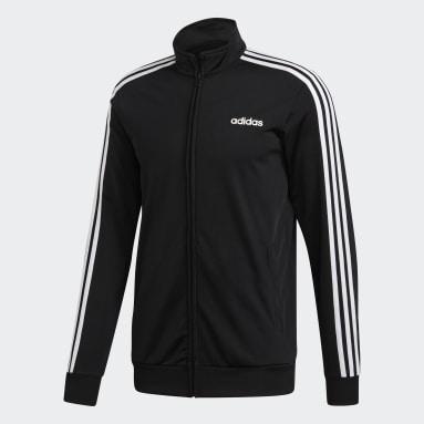 Men's Essentials Black Essentials 3-Stripes Tricot Track Top