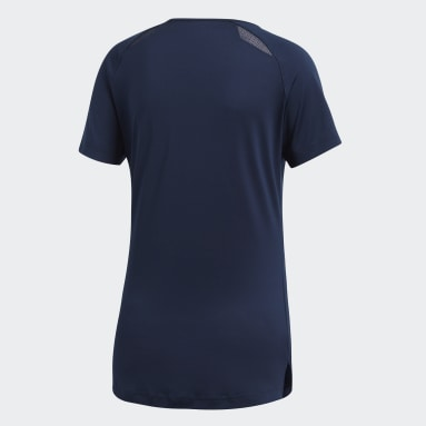 Kvinder Squash Blå Hi Lo T-shirt
