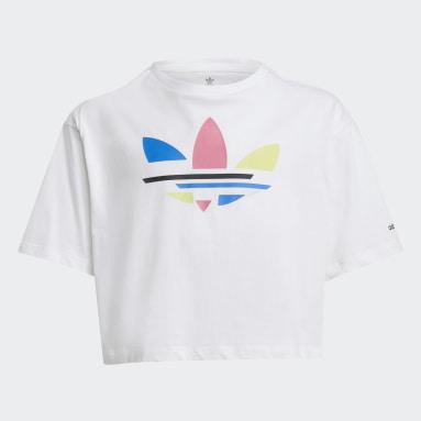 T-shirt adicolor Cropped Bianco Ragazza Originals
